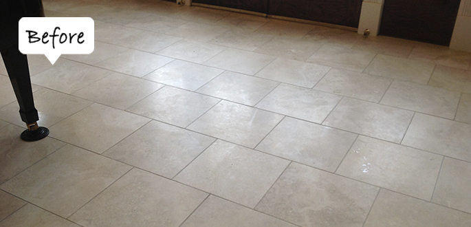 Sir Grout Westchester Travertine Before Honing and Polishing