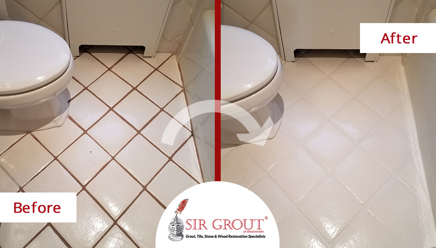 Awesome Transformation See How This Floor In Rye Got A Complete - Bathroom tile cleaning service