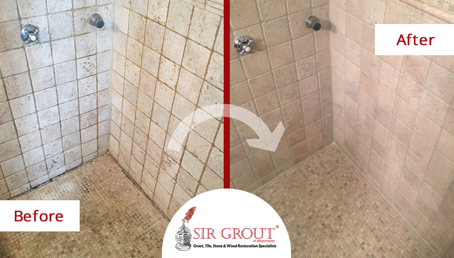 A Beautiful Master Shower In Rye NY Is Now MoldFree Thanks To A - Bathroom tile cleaning service