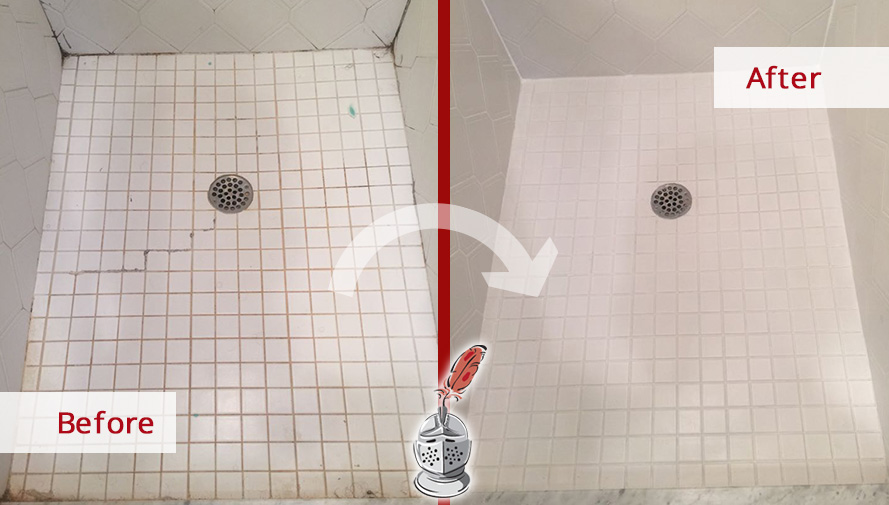 A Caulking Service In Yorktown Heights NY Brought Back The Life Of - Bathroom caulking service