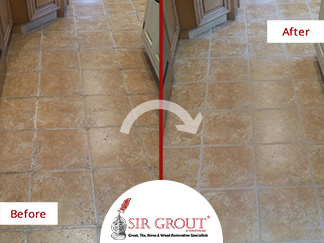 Grout Recoloring and Sealing Rescues This Tile Floor from a Job Gone ...