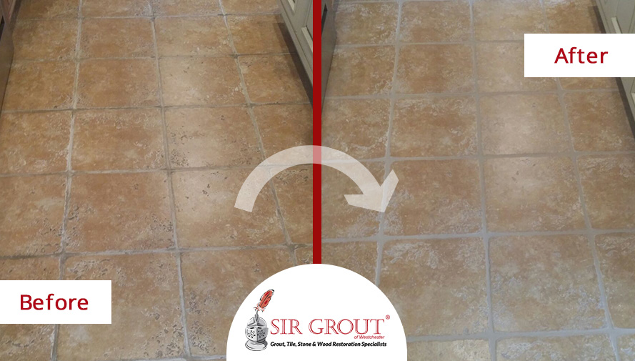 Grout Recoloring And Sealing Rescues This Tile Floor From A Job Gone