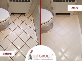Awesome Transformation! See How This Floor in Rye Got a Complete Makeover Thanks to a Grout Cleaning Service