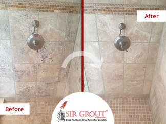 Before and After Picture of a Stone Honing Service in Thornwood, NY